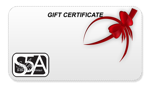 Gift Certificates salon 5th avenue